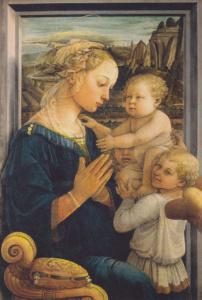 La Lippina (vierge à l'enfant avec deux anges), Fra Filippo Lippi (Galerie des Offices)